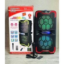 CH-8808 8Inch Speaker Outdoor Portable Trolley Speaker DJ Speaker System Subwoofer Sound Box With LED Light