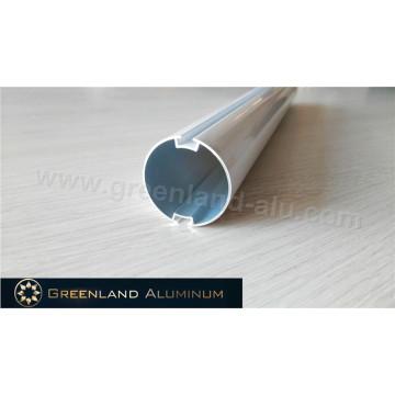 Riel principal de aluminio con espacios dobles de 40 mm para persiana enrollable
