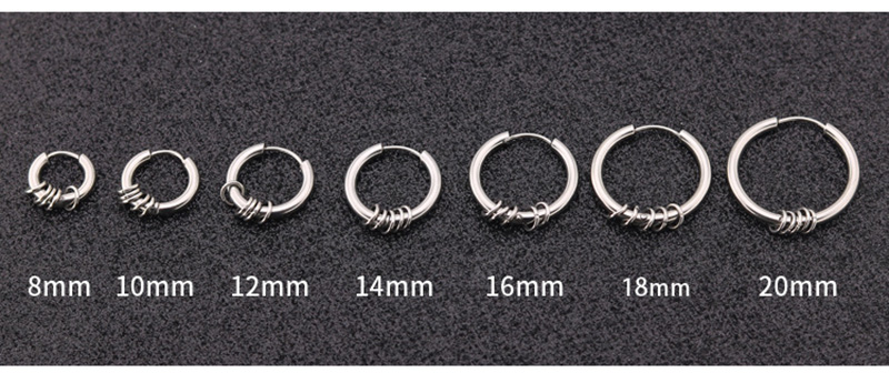 316l surgical stainless steel earrings