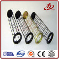 Organo silicone filter bag cage