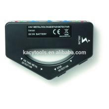 Detector de metal y tensión de 3 in1