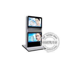 Automatic Interactive Digital Signage , Double Lcd Kiosk Signage