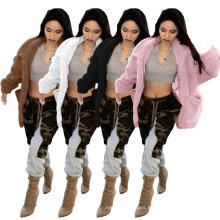 New Season Design Furry Jacket Winter Plush Jacket Plush Thick Warm Jacket for Women