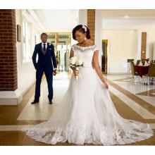 Robe de mariée Robe De Mariage Robe de mariée en dentelle à manches courtes CWF2350