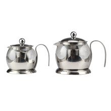 Household Hand Drip Glass Tea Pot Removable Infuser