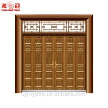 High Rankinf Exalted Design Customized Steel Entrance Mutileaf Door Gran riqueza de seguridad decorativo
