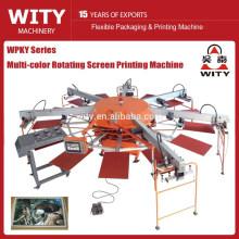 Серия WPKY Многоцветная автоматическая вращающаяся машина для трафаретной печати