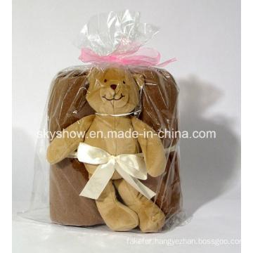 Teddy Tear Coral Fleece Kids Blanket (SSB0132)