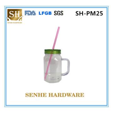BPA Free Single Wall Plastic Manson Jar (SH-PM25)