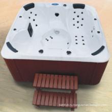 Дешевая белая акриловая напольная ванна SPA (JL987)