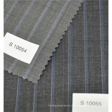 tela de la moda de la tela cruzada de la raya del poliéster de las lanas del hilado para el juego