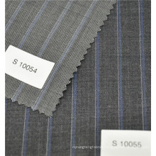 yarn wool polyester stripe twill fashion fabric for suit