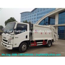 4x2 Drive Wheel YUEJIN 5000L new refuse compactor trucks,refuse garbage compactor sale in Peru