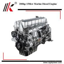 Bom desempenho 6 cilindro 150kw 200hp marine motor de barco a motor diesel