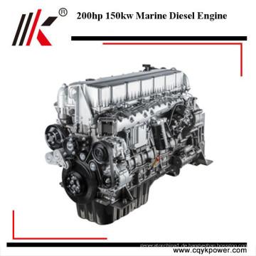 Gute Leistung 6 Zylinder 150kw 200 PS Marine Dieselmotor Bootsmotor