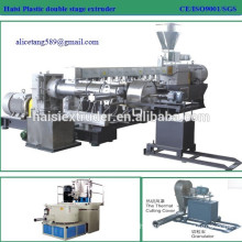 High capacity double stage PVC high filler masterbatch germany plastic extruder machine