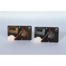 Etiqueta de nombre lenticular 3D de volteo de impresión personalizada