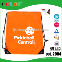 China supplier customized any logo sport & outdoor activities polyester drawstring bag