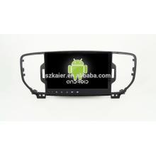 9 '' usine directement Quad core android pour lecteur DVD de voiture, GPS, OBD, SWC, wifi / 3g / 4g, BT, lien miroir pour2016 sportage