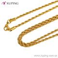 42884 Xuping Jewelry 2016 collier de femmes, long collier en or 24k