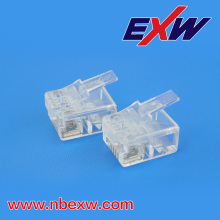 Telephone Connector 6P6C Transparent