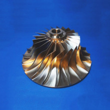 5-axis CNC Milling Titanium Hydraulic Billet Blower Impeller