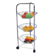 Estante de almacenamiento de frutas y verduras de múltiples capas de acero inoxidable