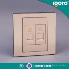 Norme britannique en aluminium brossé et matériel PC 1gang Tel Sokcet 1gang Data Socket