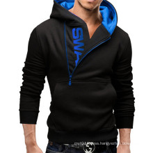 2016 Latest Sweater Designs for Men Zipper Hooded Pullover