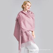 2017 nouveau design plaine châle en cachemire laine mode pashmina écharpe