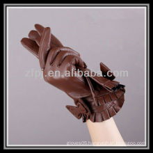 fashion tan Leather Gloves