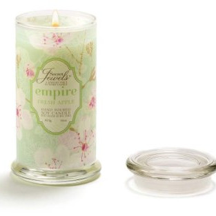 Secret Jewels scented soy jar candle
