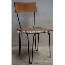 Industrial Urban loft metal Wooden Chair