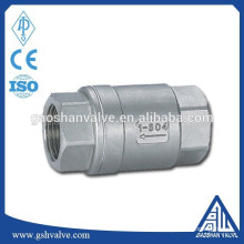 Válvula de retenção de mola de aço inoxidável para água
