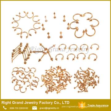 Spike circular ferradura Piercing barbell body piercing jóias