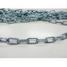 Cadena soldada con cinc cadena plateada brillante de la máquina