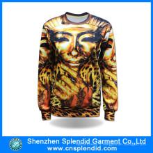 Vente en gros Hip Hop Vêtements élégant Polyester Sublimation Impression Hoodie