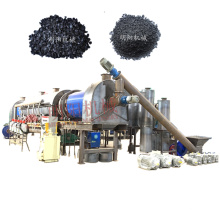 New small size materials continuous smokeless rotary type carbonization furnace