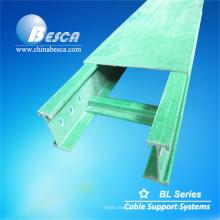 Tipo da escada da bandeja de cabo da fibra de vidro NEMA 20C de FRP (UL, cUL, NEMA, CE, IEC, ISO)