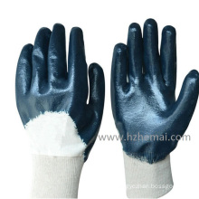 Blue Nitrile Half Dipped Work Gloves China