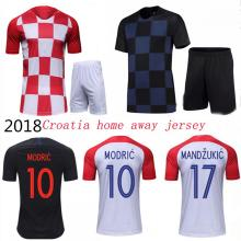 18 19 Copa del mundo Croacia Fútbol Jersey Home Away Red BlueThai versión