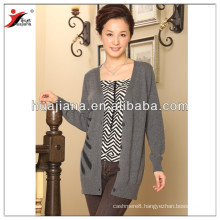 fashion women's long cashmere cardigan