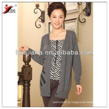 Casaco de cachemira longo e feminino de moda