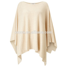 PK17ST123 Rib Stitch Wool Poncho knit poncho cover-up