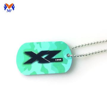 Custom metal printable necklace dog tag