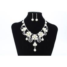 Свадьба Шику бисером ожерелья с серьги модели