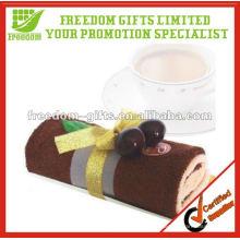 Toalla 100% de la torta del regalo de boda de la moda del algodón de la alta calidad