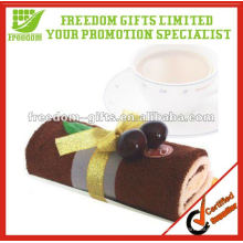 High Quality 100% Cotton Fashion Wedding Gift Cake Towel