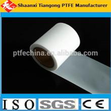 100% de membrana de película de PTFE puro transparente virgem