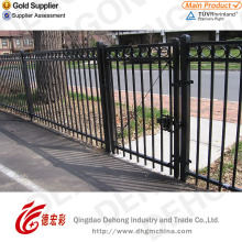 Hand-Made Wrought Iron Fence with Plastic Coated